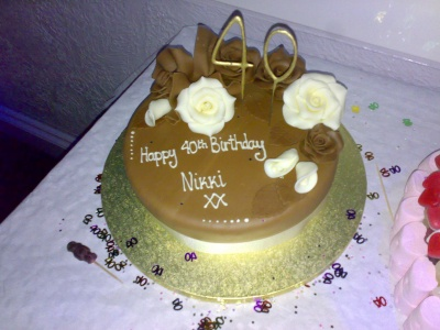 40th Birthday Chocolate Cake