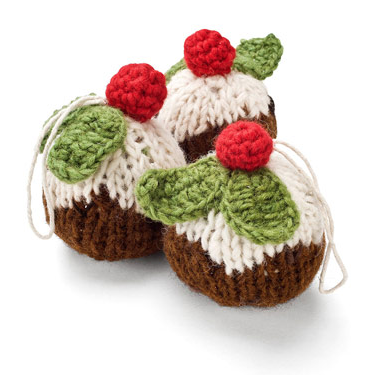 Twitter Competition #2 - Knitted Christmas Pudding Tree Decorations