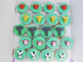 Jungle Animal Fairy Cakes