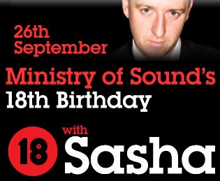 Ministry Of Sound's 18th Birthday Bash