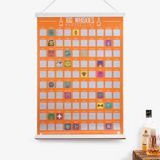 100 Whiskies Scratch Poster - 40th Birthday Gifts For Him