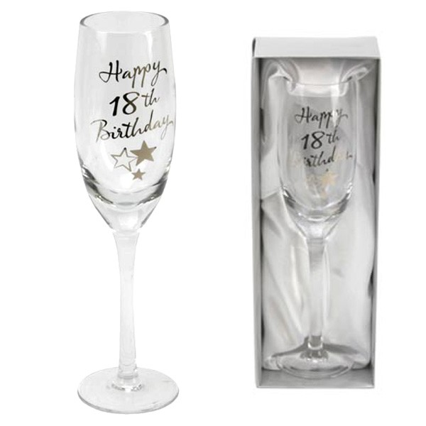 18th Birthday Champagne Flute - 18th gift