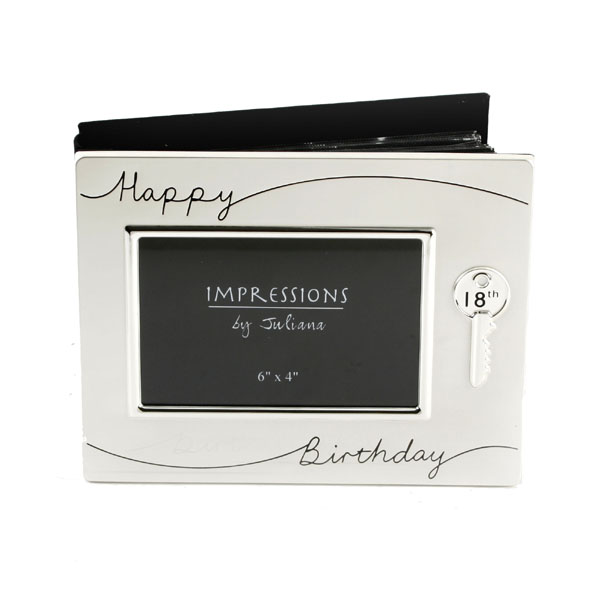 18th Birthday Silver Plated Photo Album - 18th gift
