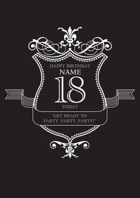18th Party | Personalised Birthday Card - 18th gift