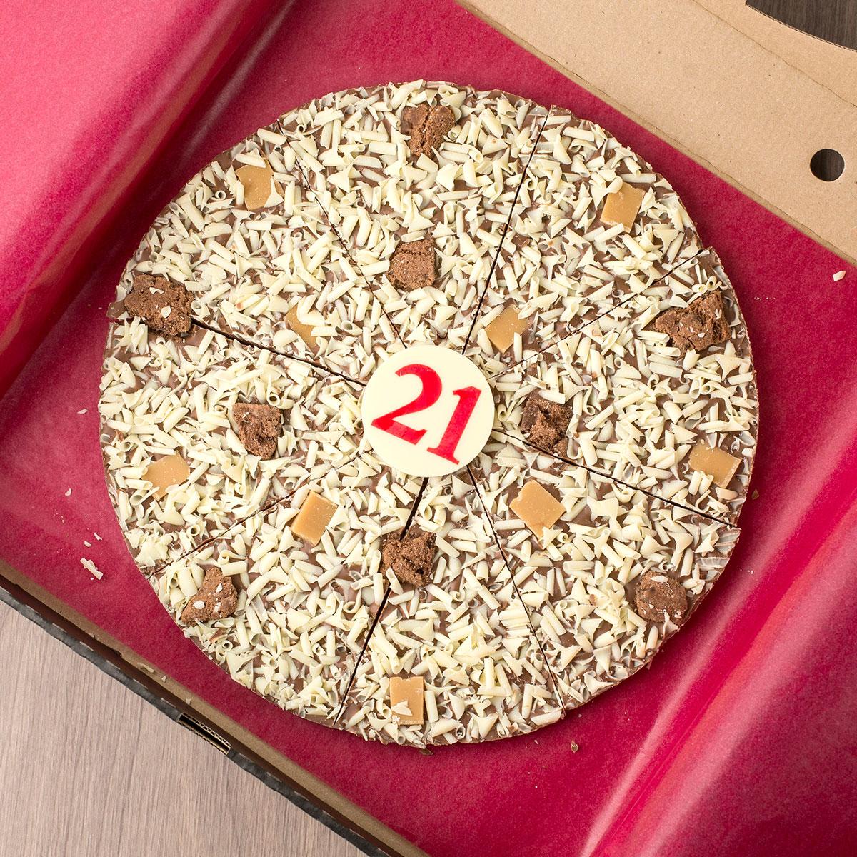 21st Birthday Chocoholics Pizza - 21st gift