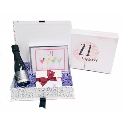 21st Birthday Prosecco Keepsakes Box - 21st gift