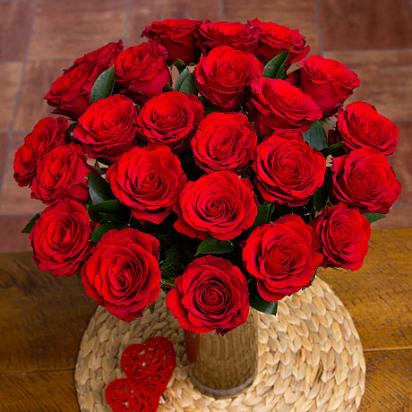 24 Red Roses -  Birthday Your Proposal - Engagement Gifts