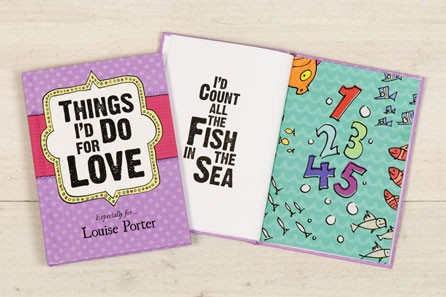 Things I'd Do for Love Personalised Book - 18th gift