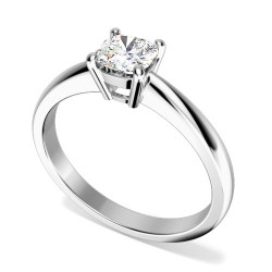 A classic Cushion Cut solitaire diamond ring in platinum -  Birthday Your Proposal - Engagement Rings