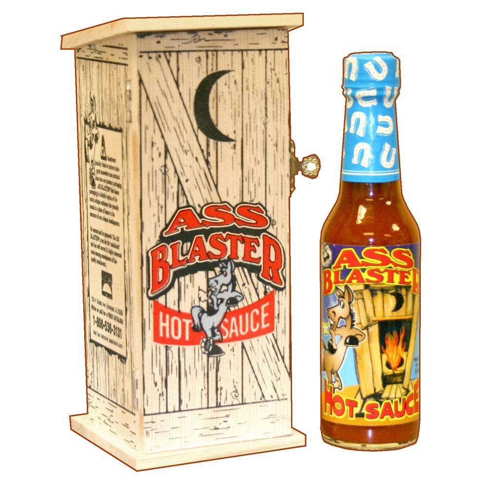 Ass Blaster Hot Sauce with Outhouse - 16th Birthday Novelty Gifts