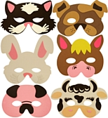 Assorted Soft Farm Animal Masks - Each - Children's Birthday Your Kids Bday - 5th Birthday