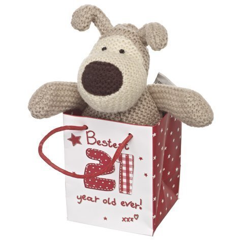 Boofle Mini Plush Toy In A Giftbag - Bestest 21 Year Old Ever - 21st gift