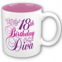 18th Birthday Diva Mug - 18th gift