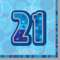 21st Birthday Blue Theme Decorations - 21st Birthday Your Birthdays - Decorations