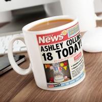 Personalised Mug - 18th Birthday News - 18th Birthday Special Presents
