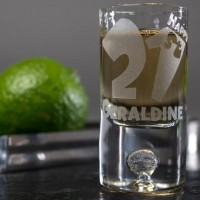 Personalised Shot Glass with Miniature - Happy 21st - 21st Birthday Getting Drunk