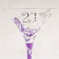 21st Birthday Tallulah Chic Cocktail Glass - 21st Birthday Your Birthdays - Gifts For Her