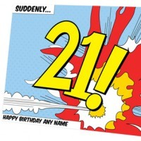 Personalised Birthday Card - Suddenly 21! - 21st Birthday Your Birthdays - Cards