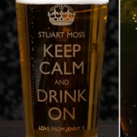 Personalised Pint Glass - Keep Calm and Drink On - 18th Birthday Special Presents