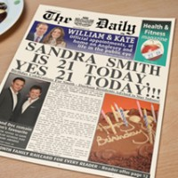 Personalised Spoof Newspaper Article - Its Your Birthday - 21st Birthday Your Birthdays - Special Presents
