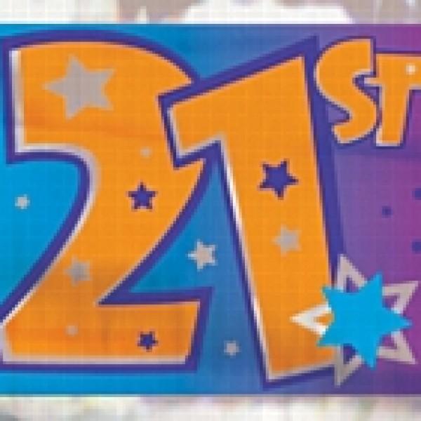 Happy 21st Birthday Banner 12ft - 21st gift