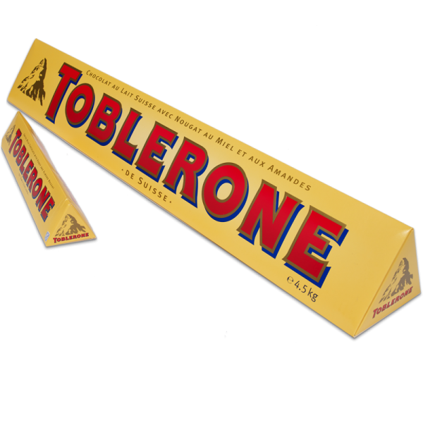 Giant Toblerone 4.5kg Bar - 18th gift