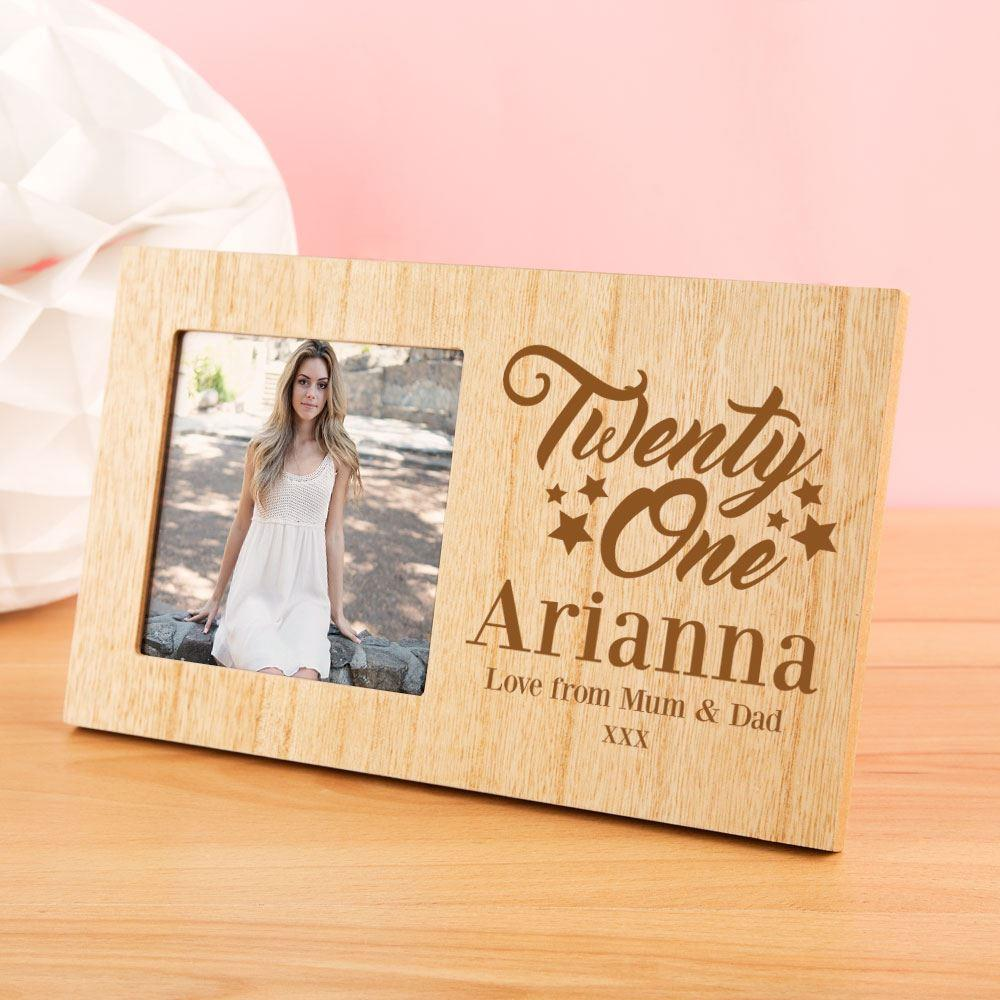 Customised 21st Birthday Photo Frame - 21st gift