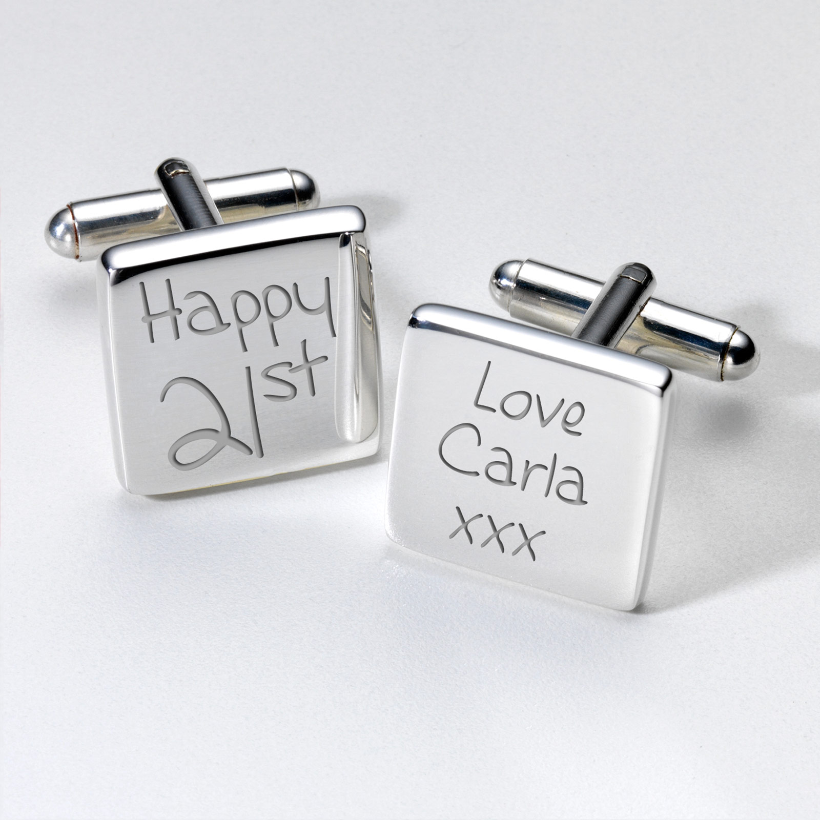 Engraved Cufflinks - 21st Birthday - 21st gift