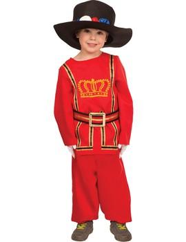 Fancy Dress - Child Beefeater Fancy Dress Costume - Children's Birthday Fancy Dress
