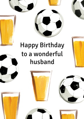 football and beer | personalised relation birthday card - 40th Birthday Cards