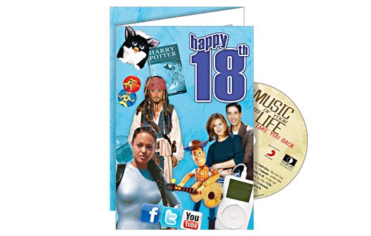 Happy 18th CD Card - 18th gift