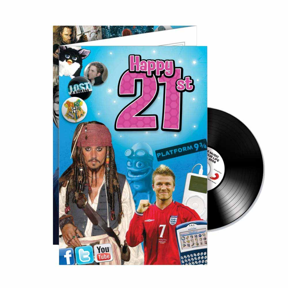 Happy 21st CD Card - 21st gift