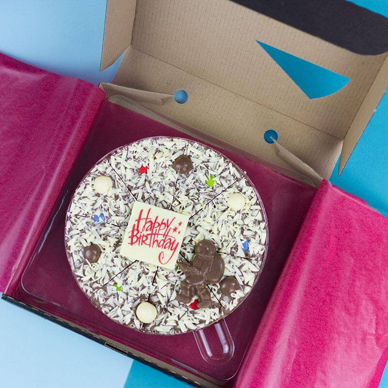 Happy Birthday Chocolate Pizza - For Him - 21st gift
