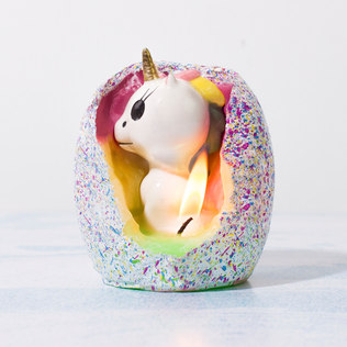 Hatching Unicorn Candle - 21st gift