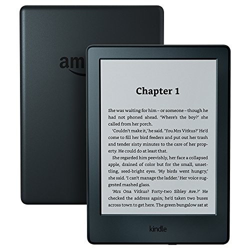 "Kindle E-Reader, 6"" Glare-Free Touchscreen Display, Wi-Fi (Black) - Includes Special Offers - 40th Birthday Gifts For Her"