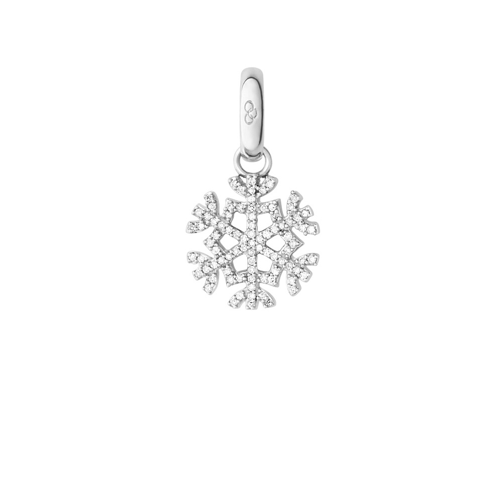 Links of London Sterling Silver & Diamond Pave Snowflake Charm - Christmas  gift