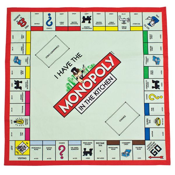 Monopoly Board Tea Towel - Christmas  gift