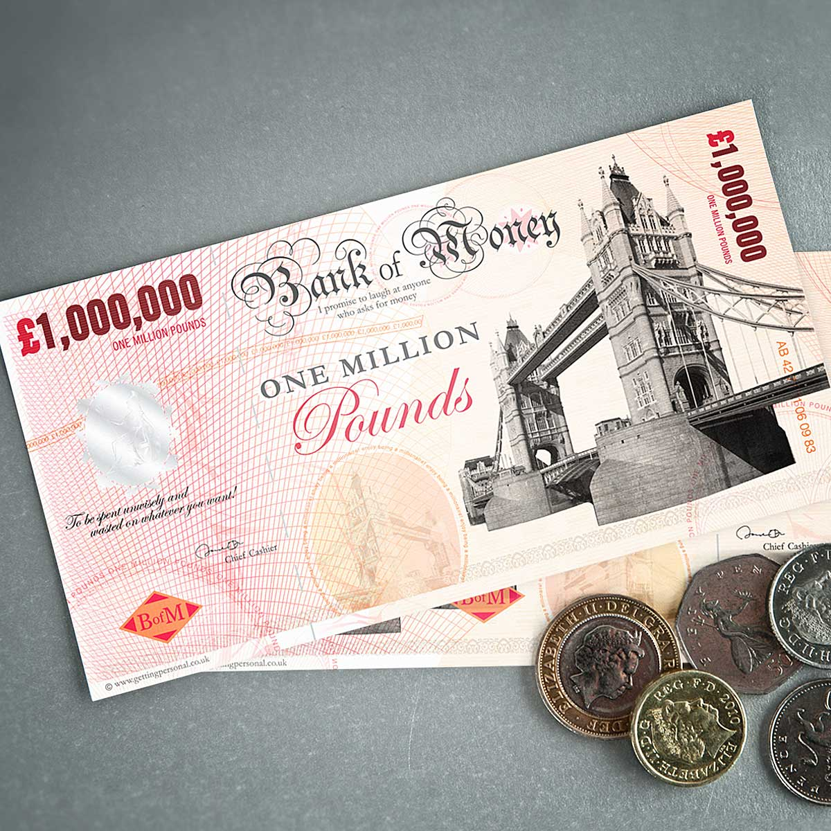 One Million Pound Note - 40th Birthday Novelty Gifts