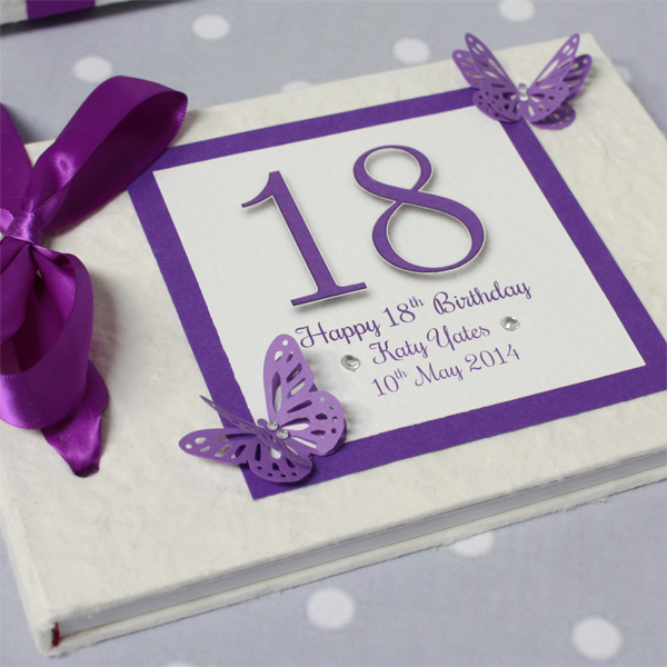 Personalised 18th Birthday Handmade Photo Album