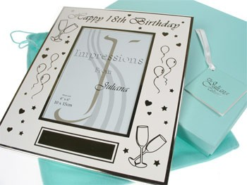 Personalised 18th Birthday Photo Frame: Engraved - 18th gift