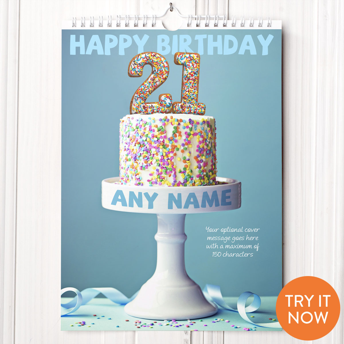 Personalised 21st Birthday Calendar - 21st gift