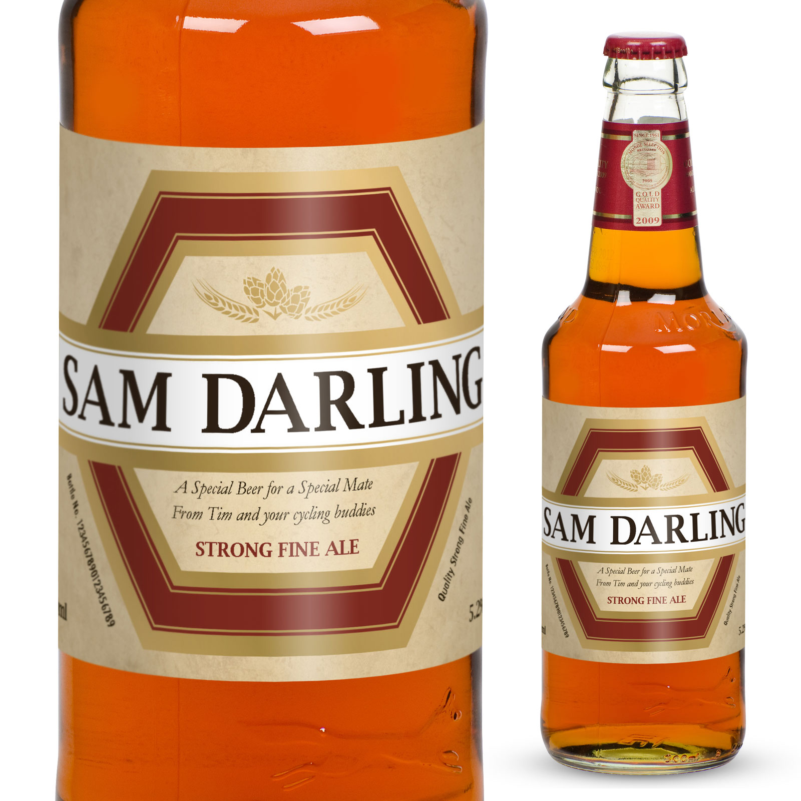 Personalised Beer with Traditional Label - 40th Birthday Personalised Gifts
