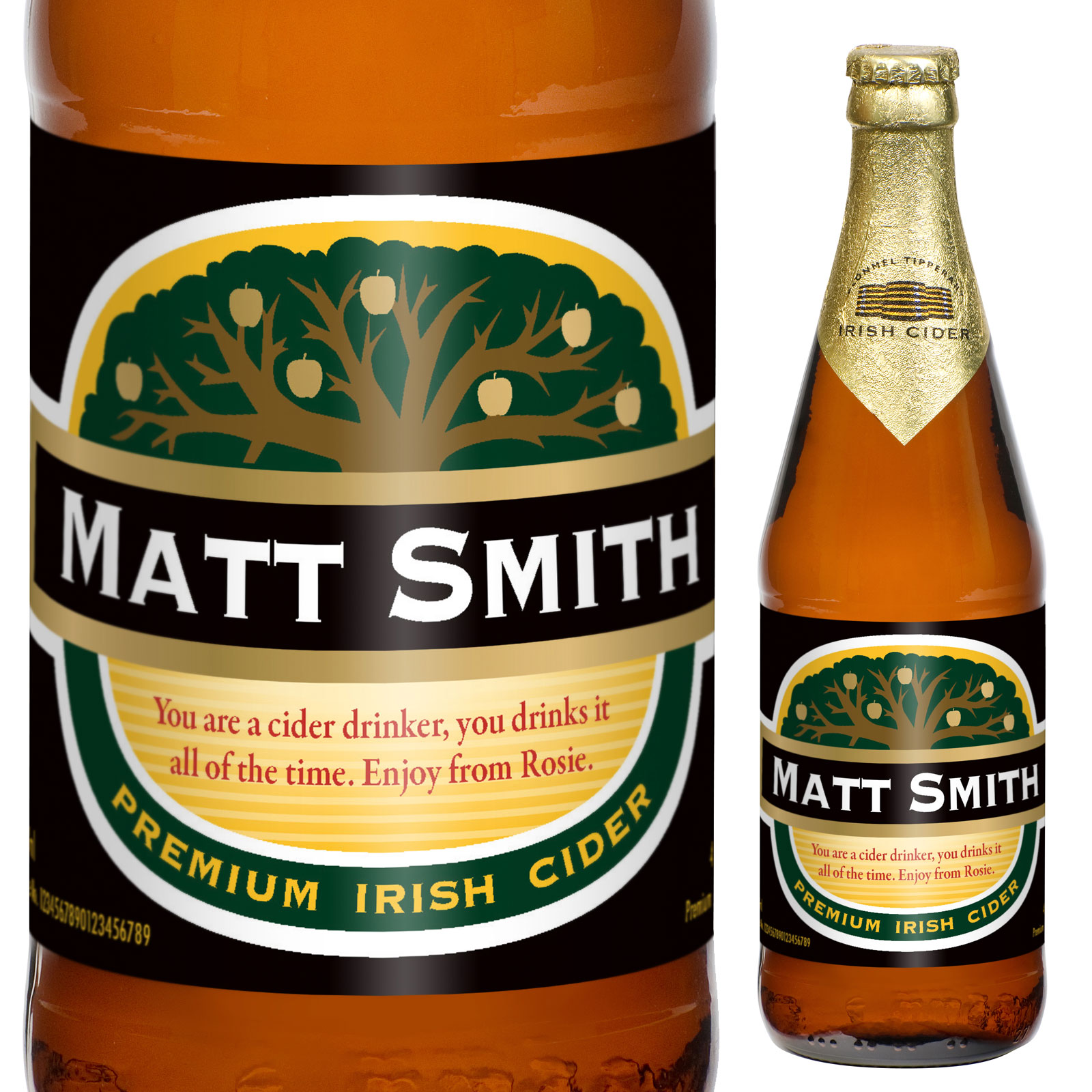 Personalised Cider with Traditional Label - Christmas  gift