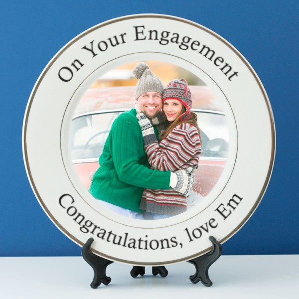 Personalised Engagement Photo Plate -  Birthday Your Proposal - Engagement Gifts