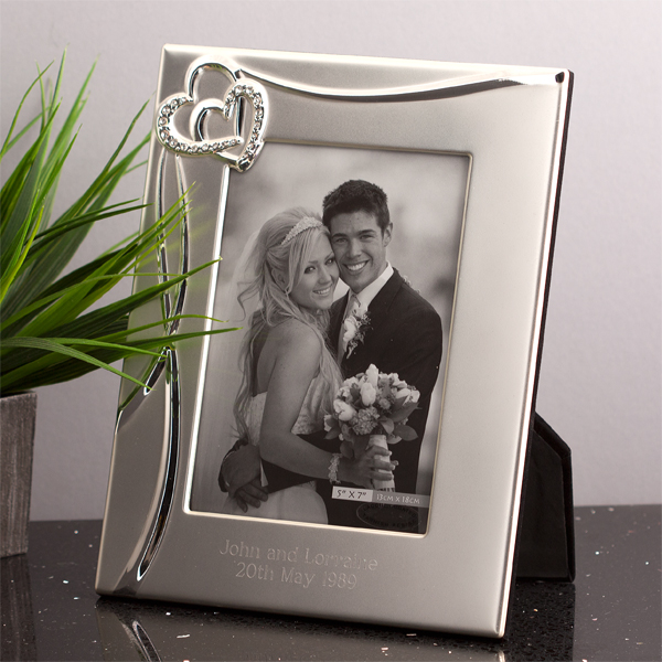 Personalised Entwined Hearts Photo Frame -  Birthday Your Proposal - Engagement Gifts