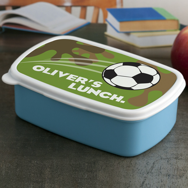 Personalised Football Lunch Box - Children's Birthday Your Kids Bday - 5th Birthday