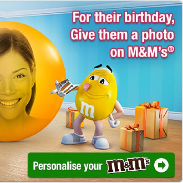 Personalised M&M's - Children's Birthday Party Stuff