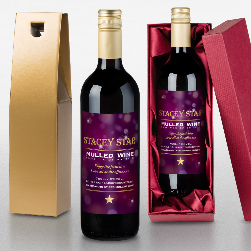 Personalised Mulled Wine - Christmas  gift