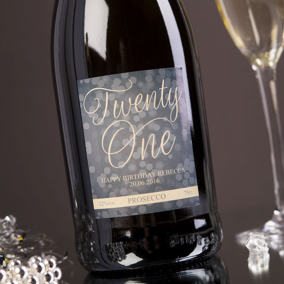 Personalised Prosecco - Twenty One - 21st gift