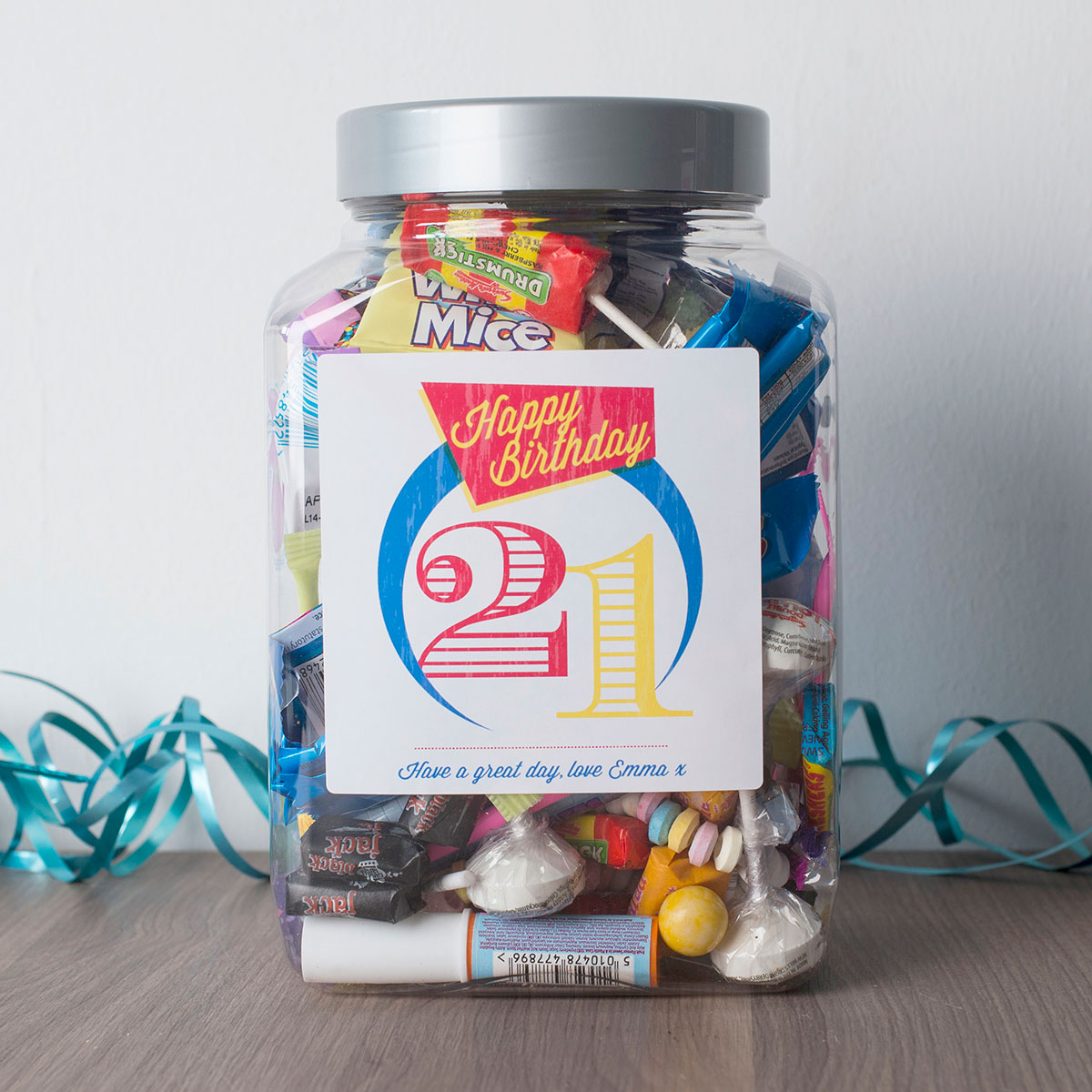 Personalised Retro Sweet Jar - Retro 21 - 21st gift